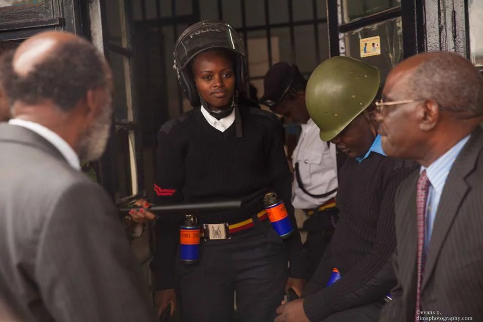 Pregnant female cop that gave CORD leaders a hard time at Pangani