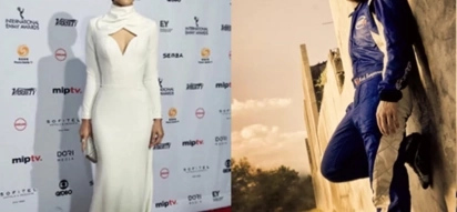 Amor Powers and peg! Jodi Sta. Maria slays Emmy's red carpet with elegant white dress made by Fil-Am ex-race car driver