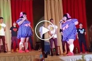 Benta! Giant baby Boobsie wows comedy bar audience with her funny antics