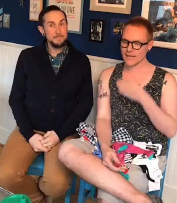 These 2 men are heavily pregnant and expecting their first biological son