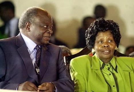 Mwai Kibaki with his late wife Mama Lucy Kibaki.