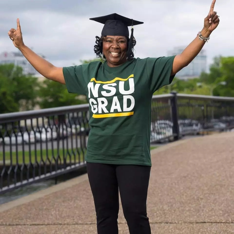 Karen Hunter graduated from college 30 years after dropping out