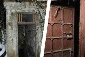 Man considered it to be the abandoned mine... His jaw dropped when he discovered this secret door inside