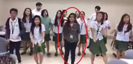 FEU teacher joins students in showing off dance moves