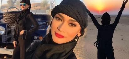 Pang-disyerto rin ang ganda! Pia Wurtzbach stuns in Emirati garb as she takes Dubai by storm