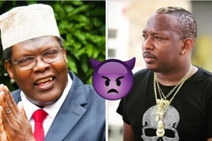 Mike Sonko and Miguna Miguna in a bitter fight (video)