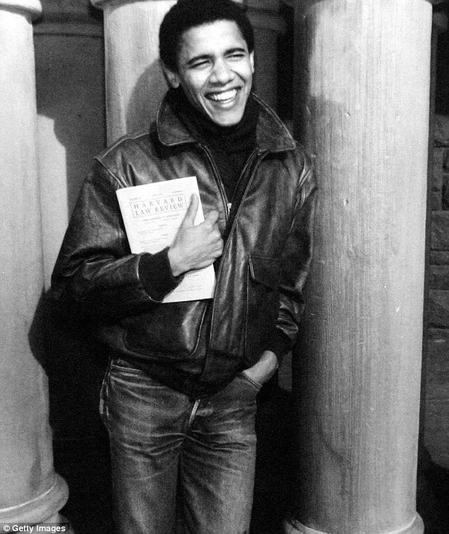 Stylish ex-President! Obama dumps formal White House suits for leather and jeans (photos)