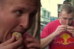 Foreigner tastes balut for the first time! Watch his food review!