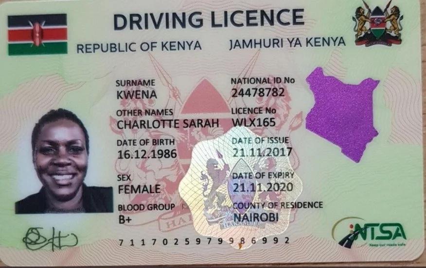 Sampuli ya leseni mpya ya kuendesha magari nchini Kenya, utapenda!