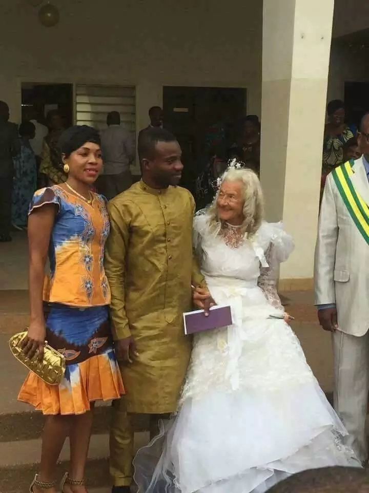 Shock as man weds GRANDMOTHER in colourful church ceremony (a must see photos)
