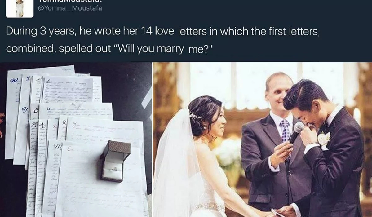 Love at its Finest! This Man Spent 3 Years Writing 14 Love Letters To His Girlfriend Just To Finish These Words Using The First Letters!