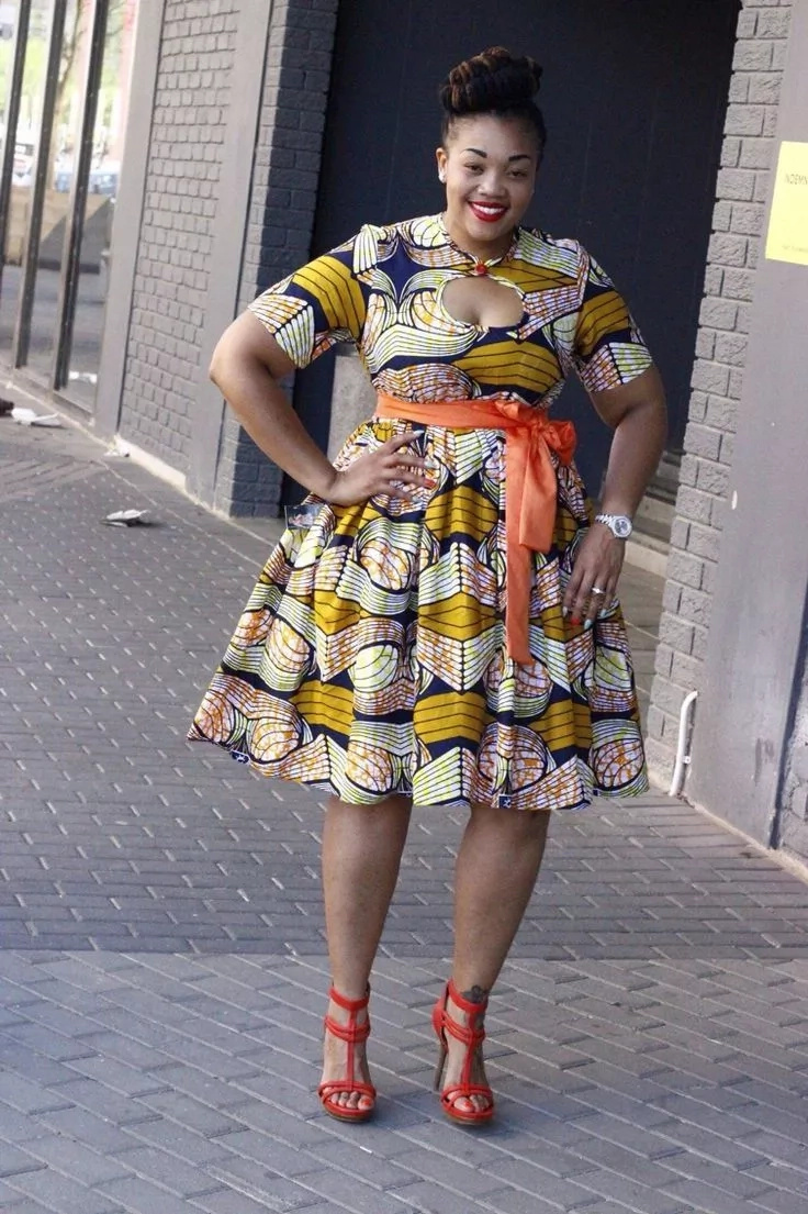 2018 trends of african print dresses for plus size ladies