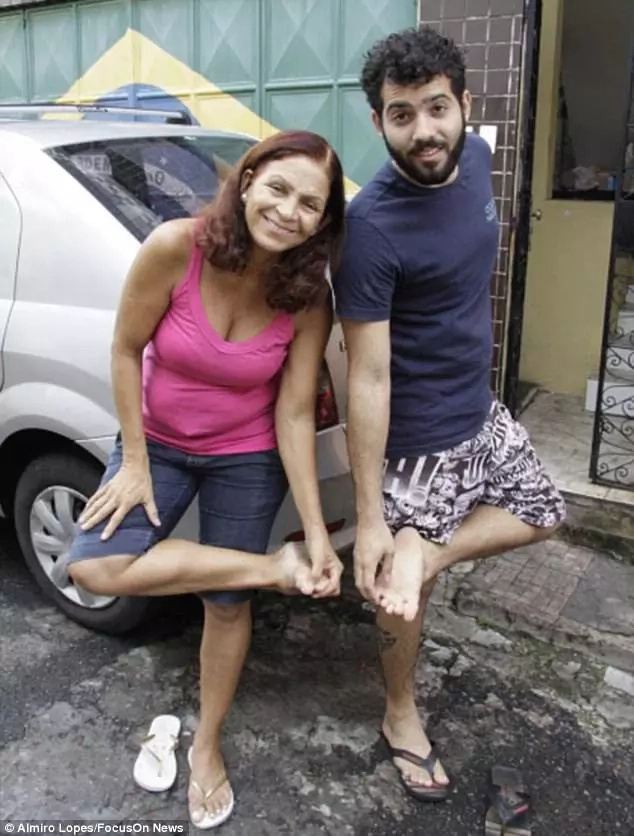 Matheus Andrade and his mother, Rose Fernandes, were both bitten by the nocturnal animals as the slept