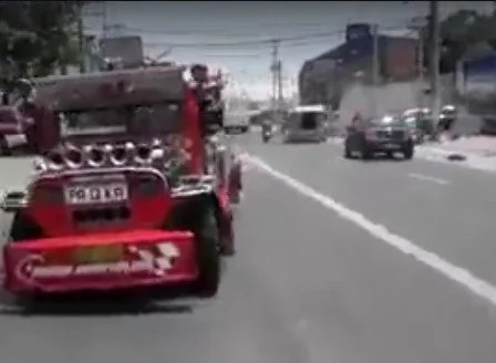 Kids playing off with a jeepney caught on video