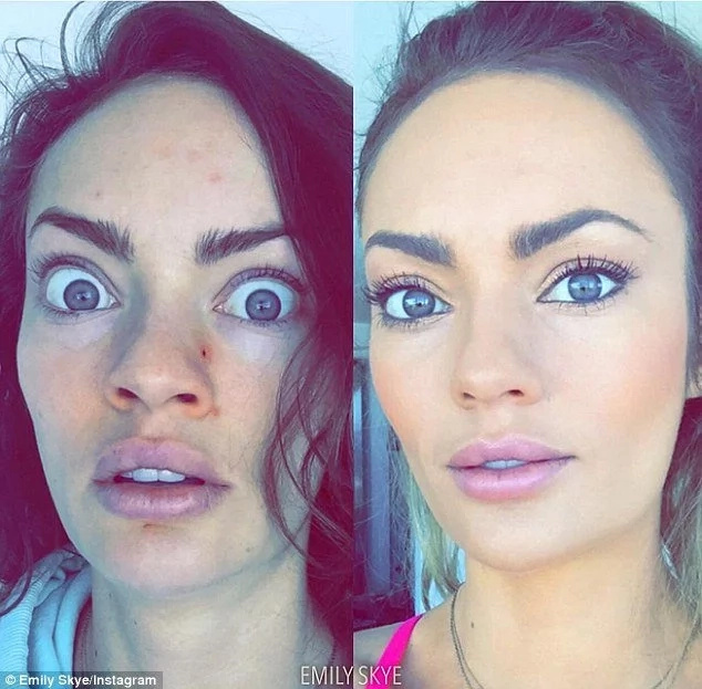 This Girl Shares Before & After Make Up Snaps And Oh My God