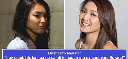 Di talaga umaatras si ate! Nadine Lustre engages in 'comment war' against basher who criticized her shirt and called her 'burara'