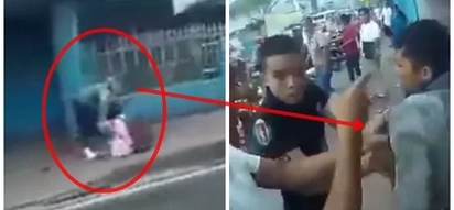 Huli ang kawatan! Angry citizens mercilessly mob snatcher who took poor student's wallet