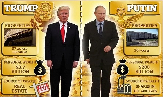 Vladimir Putin vs Donald Trump: private jets, properties