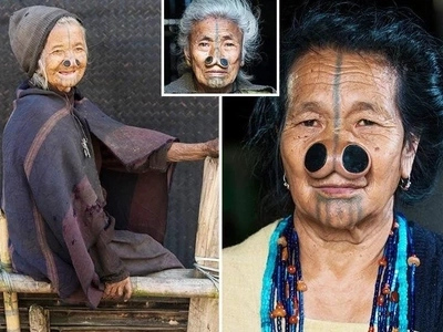 These women DISFIGURE their faces with nose plugs so they don't get kidnapped by men (photos, video)