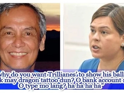 Jim Paredes reacts to Sara Duterte's tirades against Senator Trillanes
