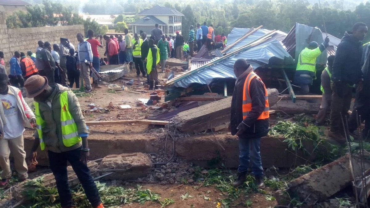 Two dead as 5-storey Kisii residential building caves in