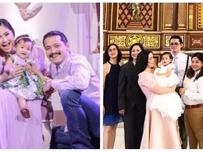 Dalawang beses bininyagan! Robin and Mariel's daughter Isabella received the sacrament of baptism in a Catholic church