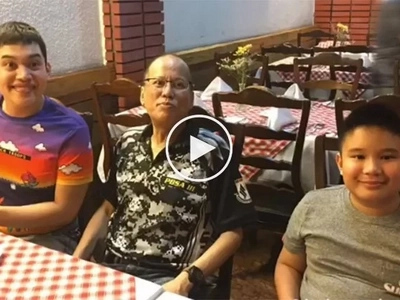 Na-demote si kuya! Former Pres. Aquino is Josh and Bimby's new 'nanny?'
