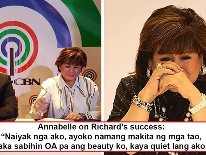 Nalula sa kasikatan ng anak! Annabelle Rama sheds tears after hearing thundering applause for Richard Gutierrez!