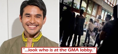 Siyang siya! Atom Araullo spotted at lobby of GMA-7! Does this confirm network transfer?