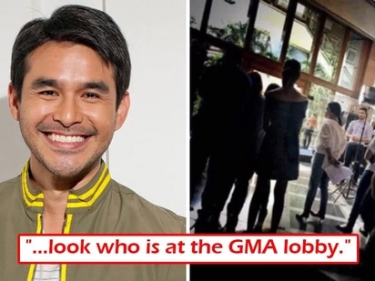 Siyang siya! Atom Araullo spotted at lobby of GMA-7! Does this confirm network transfer?