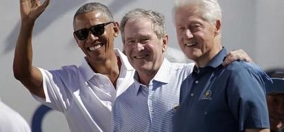 Makubwa! Barack Obama, George Bush na Bill Clinton wakutana kushabikia gofu bila ya Trump