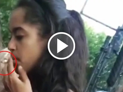Video of Obama's daughter caught smoking marijuana on camera is mind-blowing!