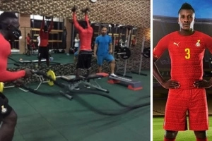 Black Stars training in Dubai ahead of Egypt fixture