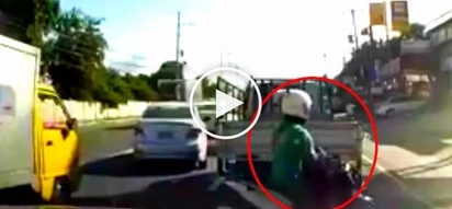 Careless Pinoy motorcycle rider brutally collides with another rider after changing lanes