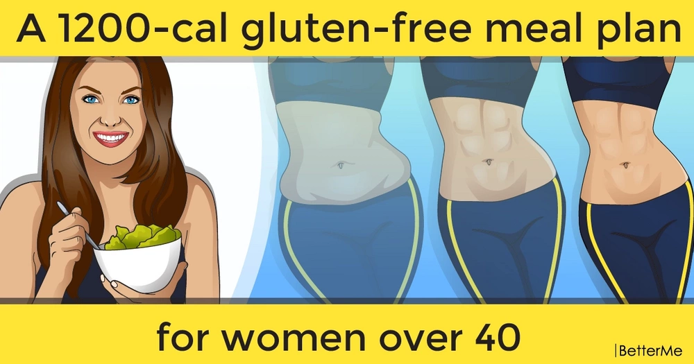 A 1200-cal gluten-free meal plan for women over 40