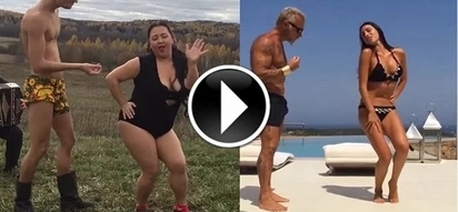 This Russian couple parodies the dance of the Italian millionaire, and now I can't stop laughing