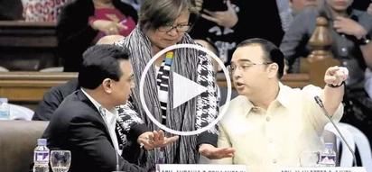 Bakbakan sa Senado: furious Trillanes gets into heated fight with angry Cayetano!