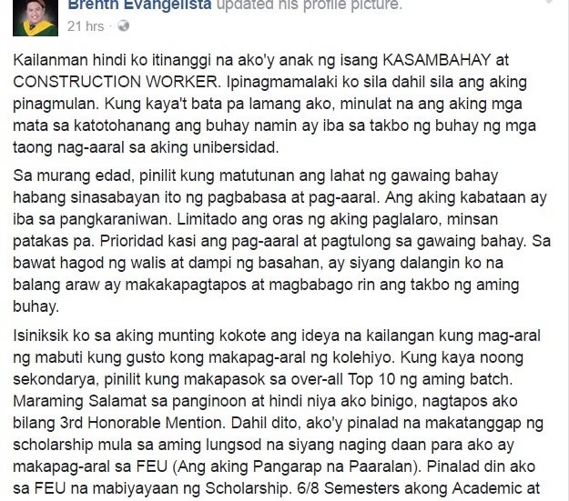 Student leader moves netizens to tears after inspiring graduation post
