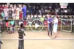 Mandaraya! He punched this referee after his 'сock' was declared a loser