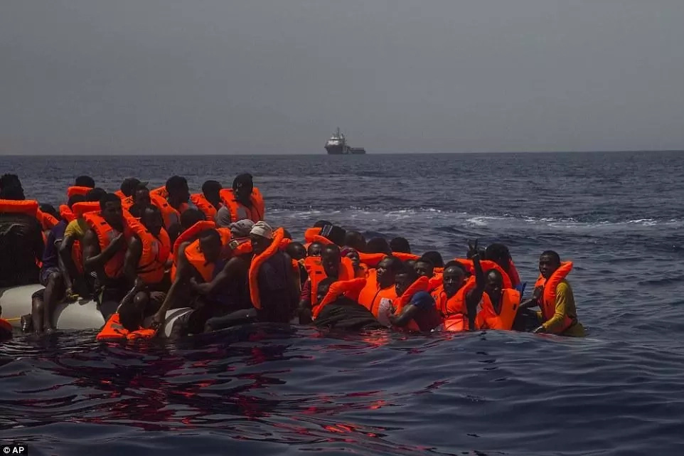 More than 2,200 migrants have been died in the Mediterranean sea this year so far. Photo: AP