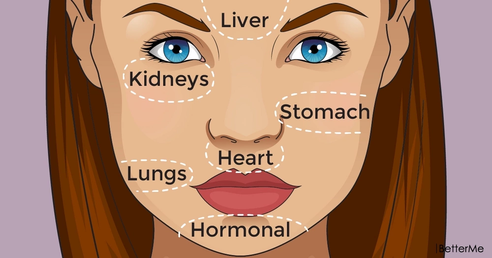 Chinese face map suggests what part of body could be sick and how to fight it