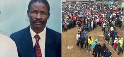 Mwanamume 63 aanguka na kufariki baada ya kupiga kura katika ngome ya Raila (picha)