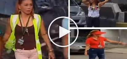 Fierce si ate! Fashionista barangay captain helps solve heavy traffic in Quezon City