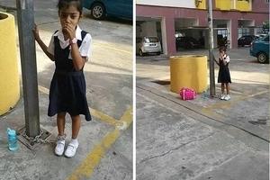 Dejó a su hija encadenada a un poste de luz para castigarla