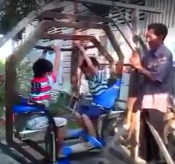 VIDEO: Father invents unconventional swing for his sons