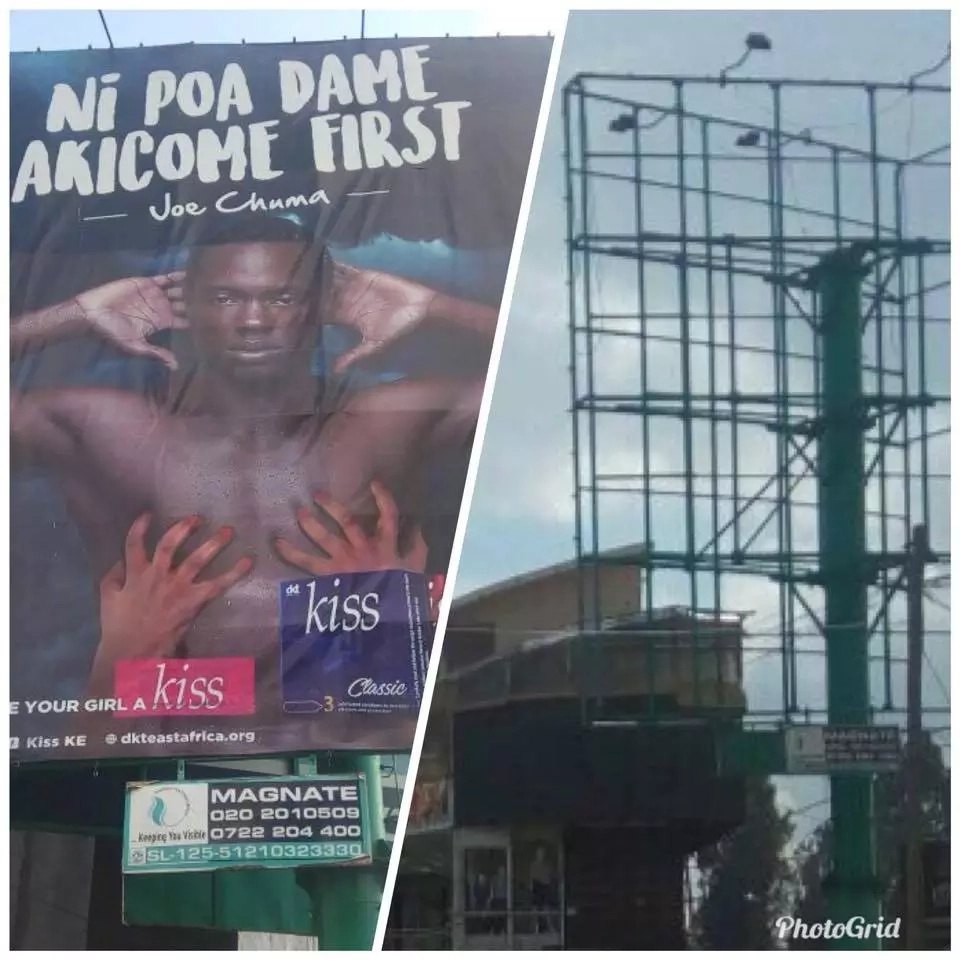 Billboard which was 'talking dirty' to Nairobians taken down