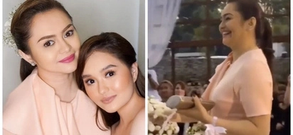 Angelika dela Cruz has a unique role in Rochelle Pangilinan and Arthur Solinap's wedding compared to her peers. What could it be?