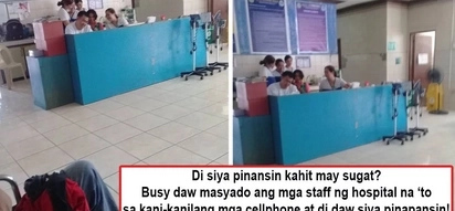 Walang paki sa pasyente? Patient gets frustrated watching hospital staff focus on their cellphones, allegedly neglecting him