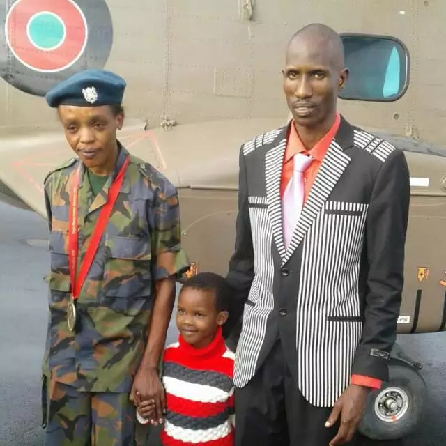 Jemima Sumgong in her Kenya Airforce uniform