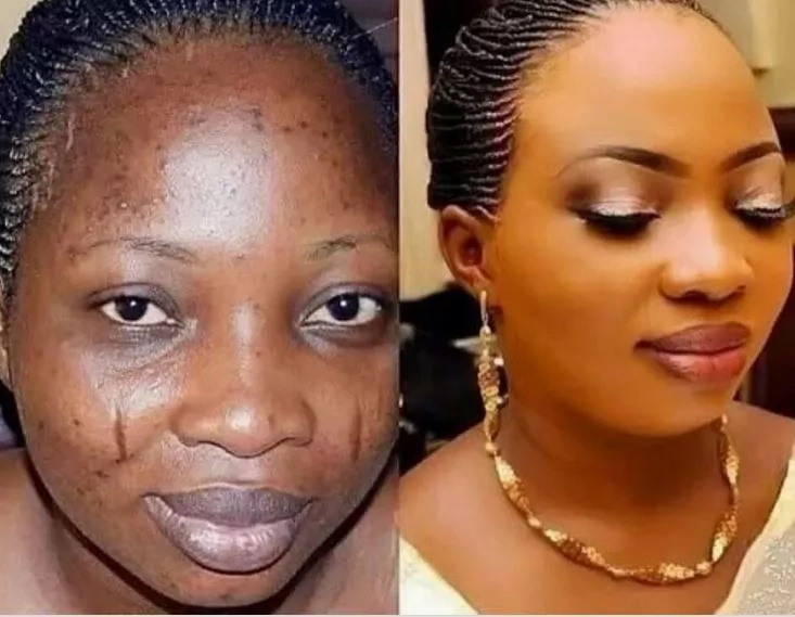 Make-up transformation photos that will shock you